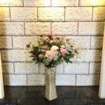 ☆今週のお花の花言葉☆   「芍薬・・・はじらい」  「ゴデチア・・・かわらぬ愛」「かすみ草・・・幸福」